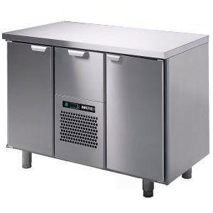 Модуль барный холодильный, 1260х550х825мм, без борта, 2 двери глухие+1 выд.секц., ножки, +5/+15С, нерж.сталь, агрегат центр.