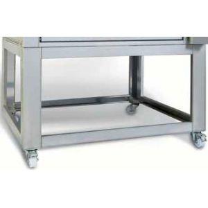 Подставка для печи для хлеба подовой T Polis 2, 1250х870х950мм, открытая, обвязка с 4-х сторон, нерж.сталь, передвижная, 2 модуля