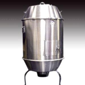 Печь-коптильня угольная напольная, 1 камера D800мм, нерж.сталь