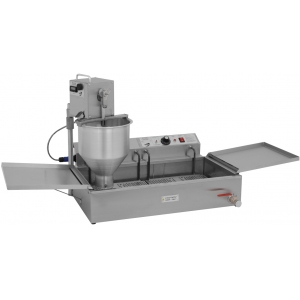 Аппарат пончиковый полуавтоматический,  300шт/ч, ванна 12л, нерж.сталь+алюминий, вес пончика 35-60г, плунжерная пара D36мм, привод автоматический