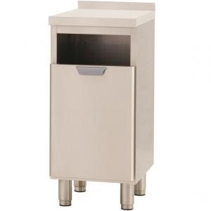 Модуль барный нейтральный для мусора,  400х550х900мм, борт H40мм, 1 ящик выдв., ножки, нерж.сталь