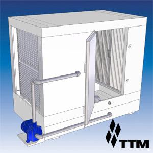 Гидрофильтр, сеч. 700х900мм, 4000-7000м.куб./ч, дв. справа