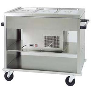 Прилавок холодильный передвижной, L1.24м, +2/+10С, нерж.сталь, 3GN1/1