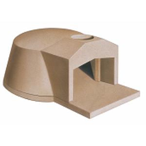 Печь дровяная, 1 камера, под 0.57м2 камень сегментированный, термометр, купол камень, дверь сталь, полупрофессиональная