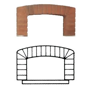 Арка входная для печи дровяной NAPOLI