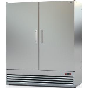 Шкаф комбинированный, 1600л, 2 двери глухие, 8 полок, ножки, 0/+8С и -18С, дин.охл., нерж.сталь, агрегат нижний