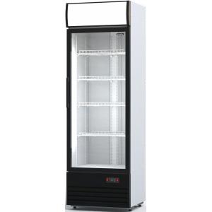 Шкаф холодильный,  600л, 1 дверь стекло, 5 полок, ножки, +1/+10С, стат.охл., белый, агрегат нижний, канапе