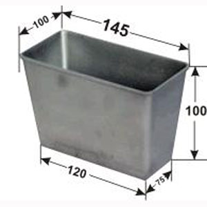 Форма для выпечки хлеба L 14,5см w 10см h 10см 350-450г 5 секций с ручками, алюминий