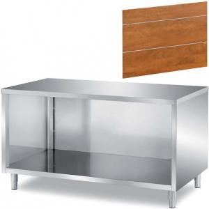 Модуль нейтральный, L 0.70м, стенд полузакртытый без двери, нерж.сталь 304, фронтальная панель «орех»