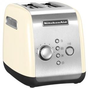 Тостер на 2 хлебца, 7 степеней, ручной подъём, размораживание, подогрев, кремовый