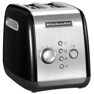 Тостер на 2 хлебца, 7 степеней, ручной подъём, размораживание, подогрев, черный