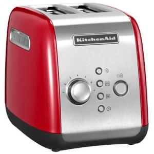 Тостер на 2 хлебца, 7 степеней, ручной подъём, размораживание, подогрев, красный