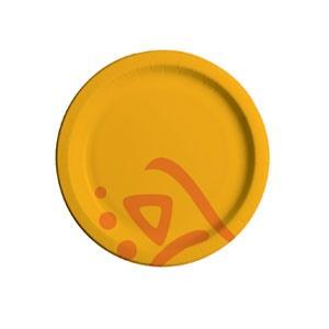 Тарелка 150мм WHIZZ круглая ламинированная бумага, 2000шт