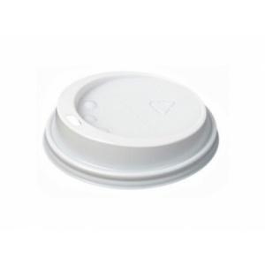 Крышка для стакана 175мл D 74мм пластик белый без носика, 1000шт
