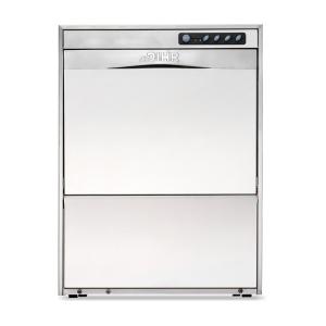 Машина посудомоечная фронтальная, 500х500мм, 30-20кор/ч, гор.вода, доз.опол., D тарелки 325мм, 2 цикла, водоумягчитель