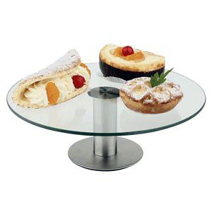 Подставка для торта D 30см, h 11см, стекло