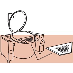 Фильтр для слива для котлов пищеварочных серий PR...320, перфорированный