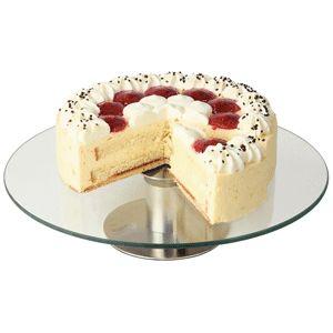 Подставка для торта D 30см, h 7см, вращающ., стекло