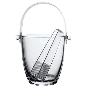 Емкость для льда D 12см d 7,5см h 12,5см 0,84л Sylvana (щипцы в комплекте), стекло