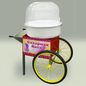 Тележка для аппарата сахарной ваты, 2 колеса, красная