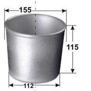 Форма для выпечки хлеба D 15,5см d 11,2см  h 11,5см 300-350г 1 секция, алюминий