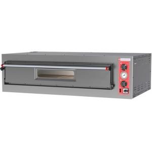 Печь для пиццы электрическая, подовая, 1 камера 1050х1050х150мм, 9 пицц D330мм, электромех.управление, дверь стекло, под камень