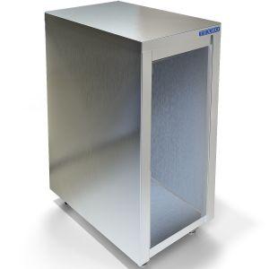 Подставка под плиту,  400х700х550мм, без борта, полузакрытая без двери, нерж.сталь 430, сварная