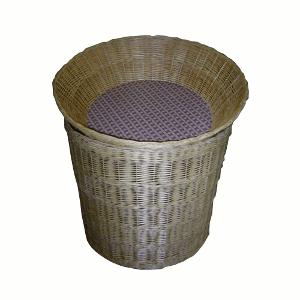 Корзина (чаша) круг с осн.-подстав. с внут.дном, плетеная, лоза, виц
