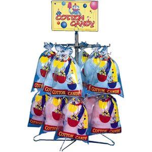 Стойка-витрина для пакетов с сахарной ватой,  340х390х890мм, 2 яруса, 32 пакета, настольная, вывеска Cotton Candy