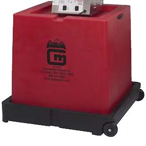 База-трансформер пластиковая мобильная д/аппарата сах.ваты, красная