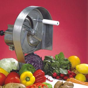 Овощерезка-слайсер механическая для овощей и фруктов, настольная, кольца (срез 1.6-12.7мм), горизонтальная резка, ротор