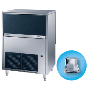 Льдогенератор для кускового льда,  67кг/сут, бункер 40.0кг, возд.охлаждение, корпус нерж.сталь, форма «кубик» A