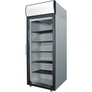 Шкаф холодильный,  500л, 1 дверь стекло, 4 полки, ножки, +1/+10С, дин.охл., нерж.сталь, канапе