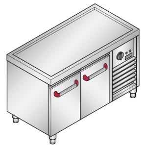 Стол-подставка холод. низкий, 2 глух.двери, б/борта, ножки