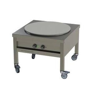 Плита-табурет электрическая, 1 конфорка 1х13.5кВт круглая, стенд открытый, колёса