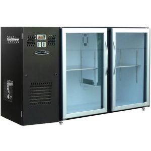 Модуль барный холодильный, 1540х540х850мм, без борта, 2 двери стекло, ножки, +2/+8С, темно-серый, дин.охл., агрегат слева, R290, RGB