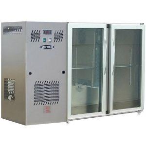 Модуль барный холодильный, 1540х540х850мм, без борта, 2 двери стекло, ножки, +2/+8С, нерж.сталь, дин.охл., агрегат слева, R290, RGB