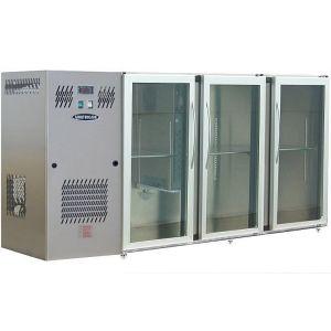Модуль барный холодильный, 2140х540х850мм, без борта, 3 двери стекло, ножки, +2/+8С, нерж.сталь, дин.охл., агрегат слева, R134a, RGB