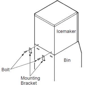 Комплект для установки льдогенератора 2хKMD201-270 на бункер В801SA