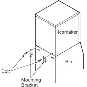 Комплект для установки льдогенератора FM170-300*-HC-480*-HC-600, KM320-515-650, KMD201-270, IM240A, FM750-1000-1200 на бункер В801SA