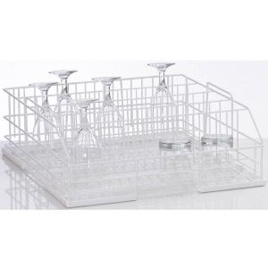 Корзина посудомоечная для стаканов для машин посудомоечных UC-M, UC-L, UC-XL, GS500, GS630, 500х500мм (размер L), 5 рядов, проволока