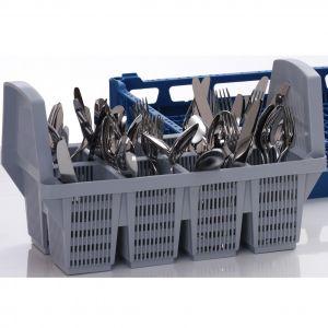 Вставка в посудомоечную корзину для столовых приборов для машин посудомоечных PT-500, PT-M, PT-L, PT-XL, CTR, MTR, 8 отсеков, серый пластик