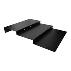 Стенд для выкладки L 75см w 60см h 9см трехуровневый, пластик черный