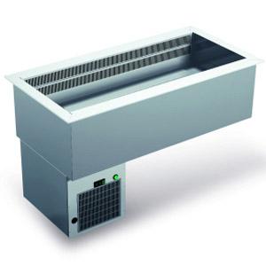 Ванна холодильная, встраив., 3GN1/1, 0/+3С, кромка, агрегат, дин.охл.
