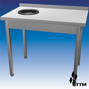 SSO1-120/7L - стол для сбора отходов усиленный, борт, отв. слева
