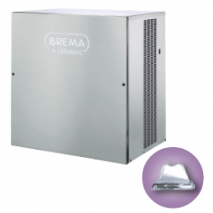 Льдогенератор для кускового льда, 400кг/сут, без бункера, вод.охлаждение, корпус нерж.сталь, форма «пирамидка»