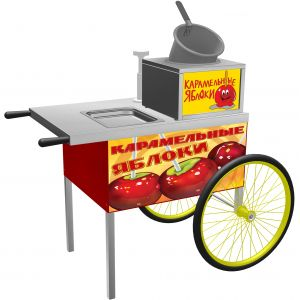 Тележка «Карамельные яблоки», 2 колеса