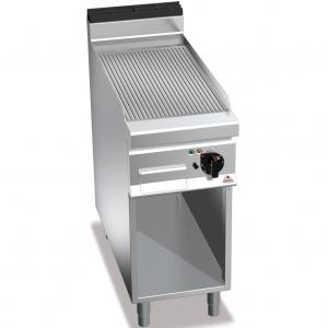 Гриль-сковорода электрическая, 1 зона, поверхность рифленая стальная, стенд полузакрытый без двери