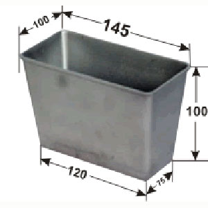 Форма для выпечки хлеба L 14,5см w 10см h 10см 350-450г 1 секция, алюминий