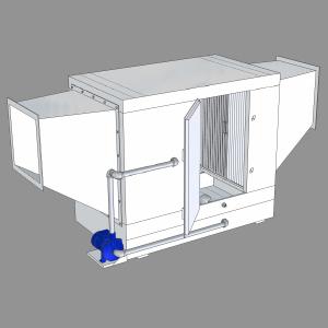 Гидрофильтр, сеч. 400х400мм, 2500-4000м.куб./ч, дв. справа